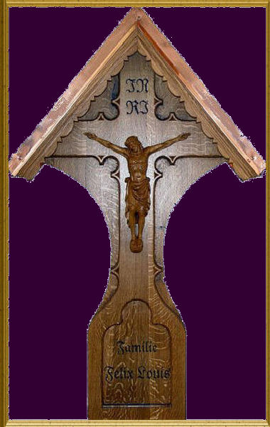 Grave cross with the crucified Jesusu
